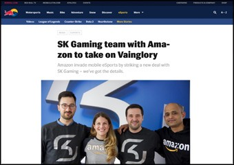 SK Gaming team with Amazon to take on Vainglory