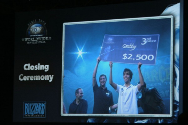 Grubby with cheque