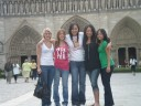 Sk ladies in front of Notre Dame