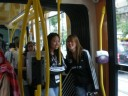 Jane and Alice in the tram