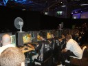 MOB playing a match in the wow progamer area