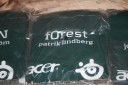 A green f0rest shirt