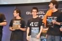 The winners of the LoL tournament including the MVP