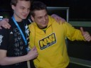 Na`Vi Zeus poses with a fan