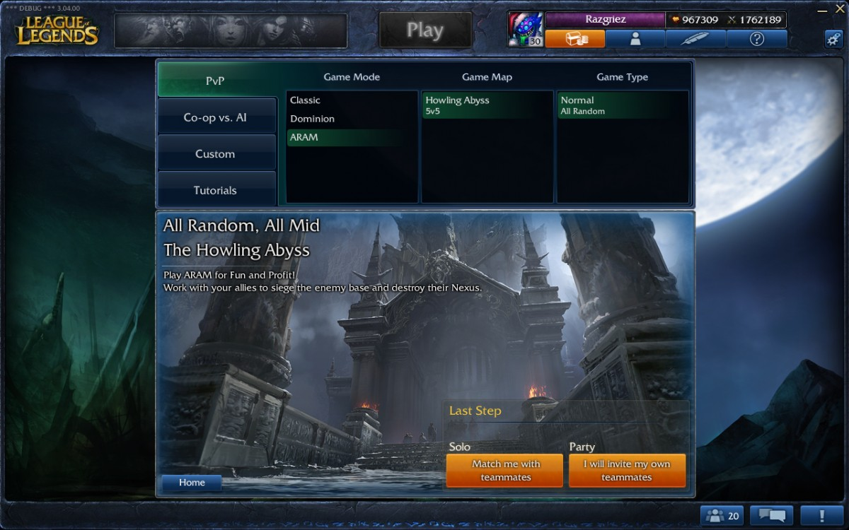 league of legends aram matchmaking
